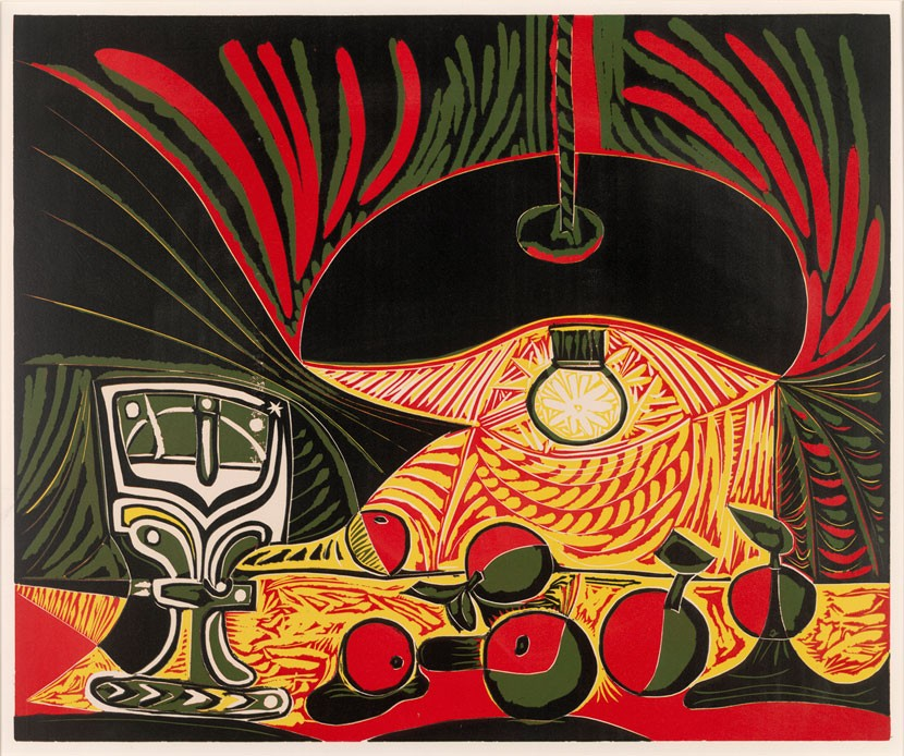 Still Life under the Lamp' by Pablo Picasso. © Succession Picasso/DACS, London 2016. Image courtesy of Trustees of the British Museum.