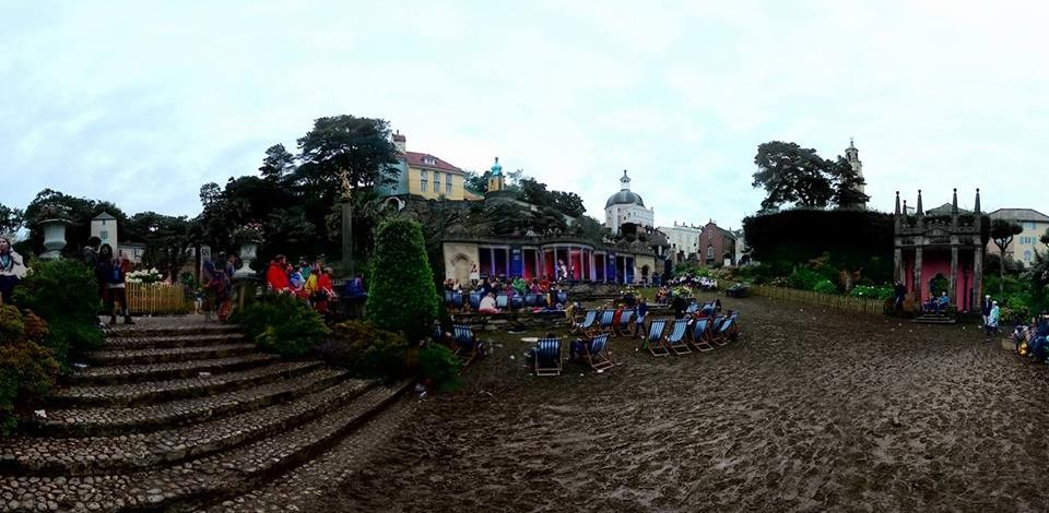 Festival Number 6 - the very muddy Central Piazza