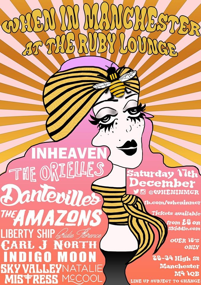 When In Manchester - Christmas Extravaganza lineup & artwork by Stephi LaReine