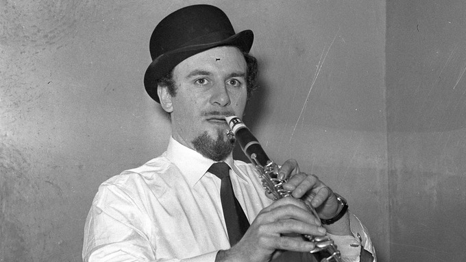 An unlikely star, but the first UK artist to have a Number One in the US, Acker Bilk.