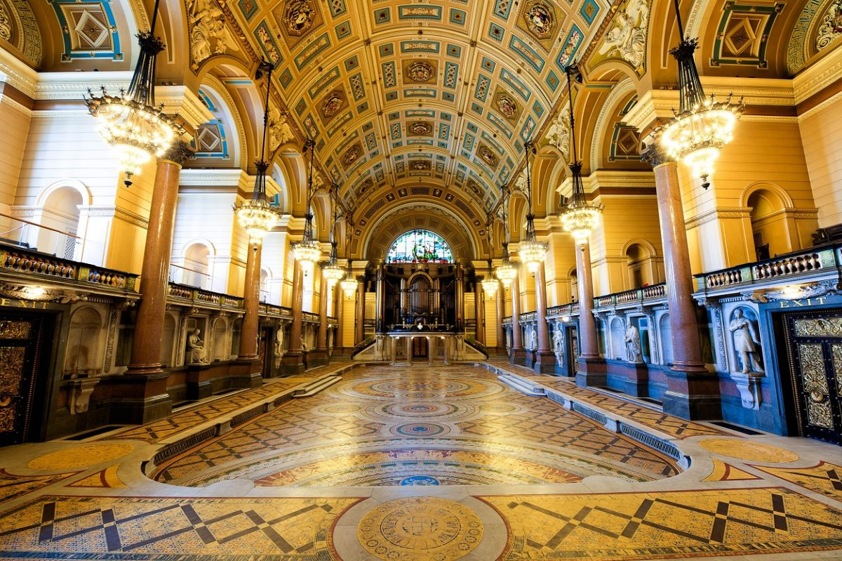 Minton Tiled Flooring at St George's Hall (image courtesy of Bill Elms Associates on behalf of St George's Hall)