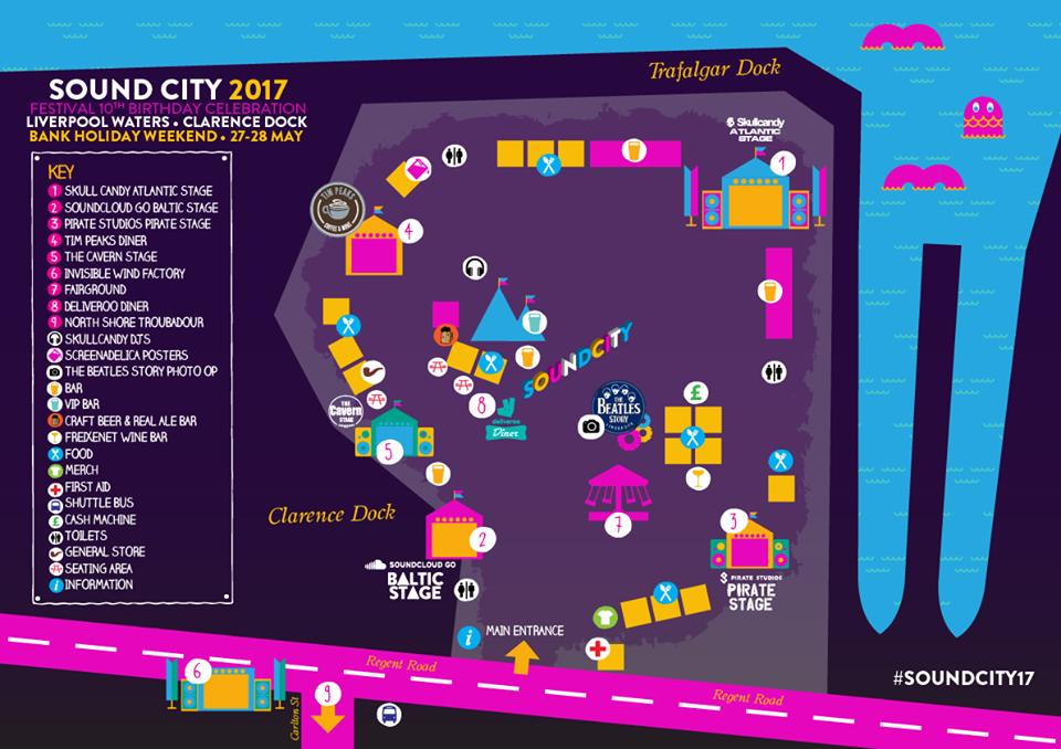 Sound City 2017 map