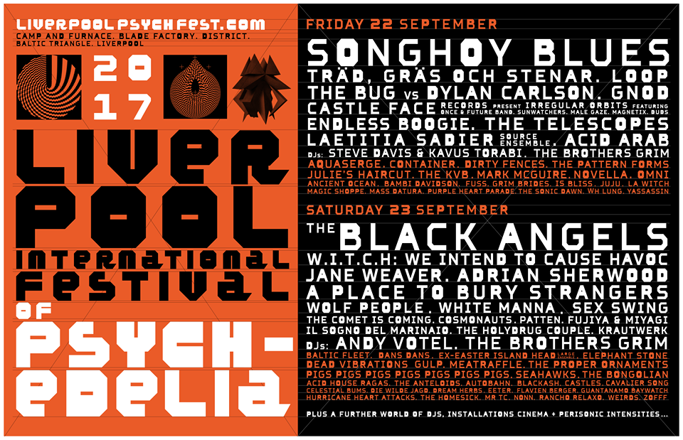 Liverpool Psych Fest 2017 day splits