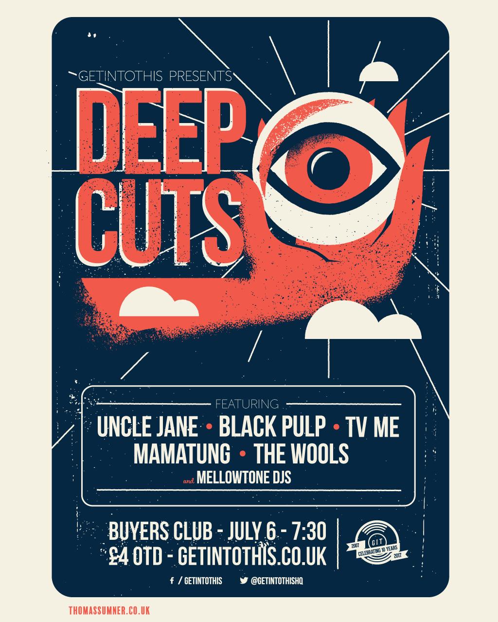 Getintothis presents Deep Cuts live - July 2017