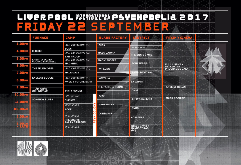 Psych Fest stage times - Day 1
