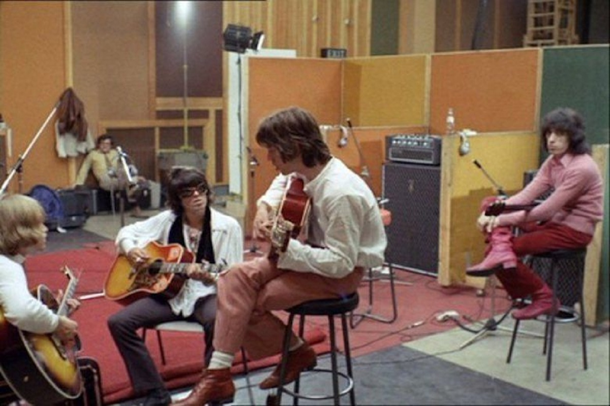 The Rolling Stones recording Sympathy for the Devil