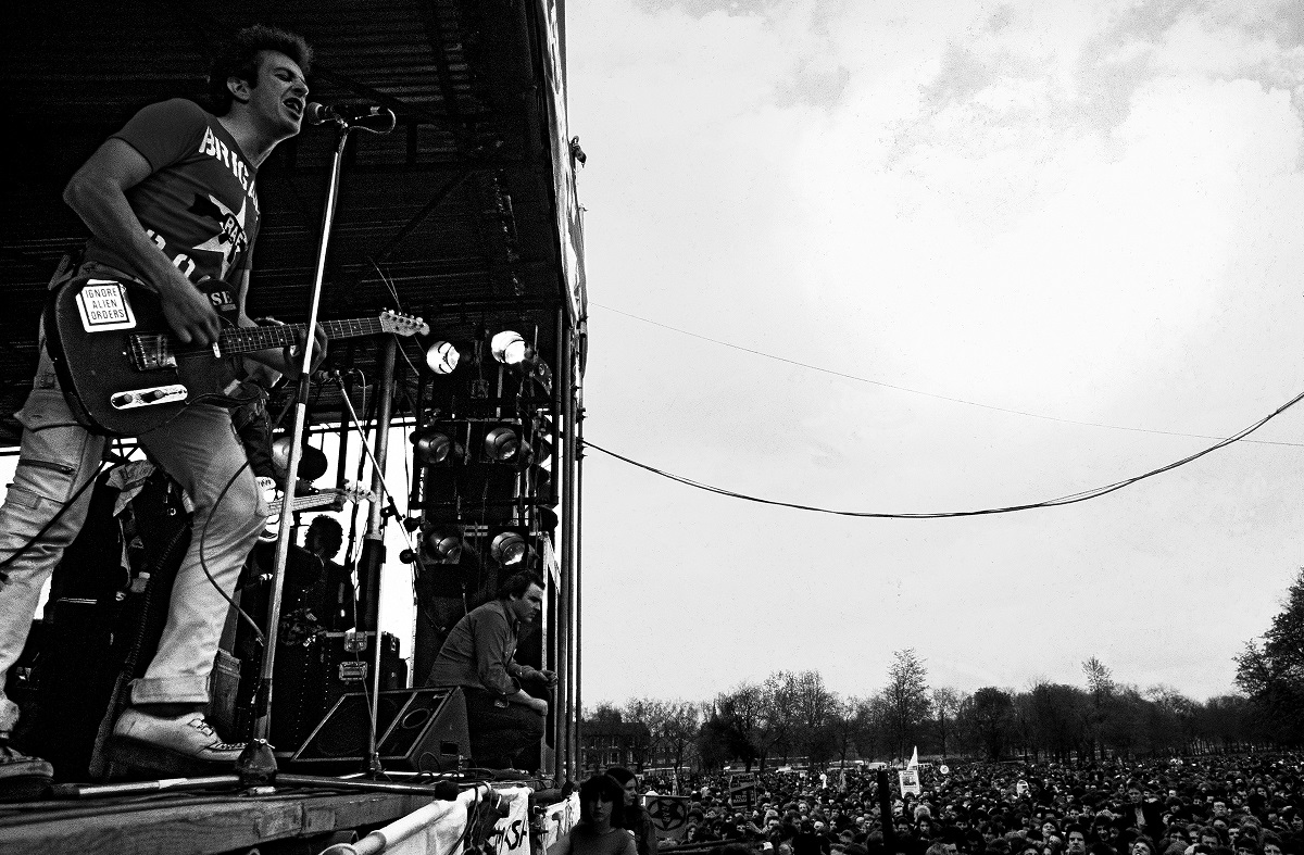 The Clash at Rock Against Racism Carnival 1, 30th April 1978 © Syd Shelton