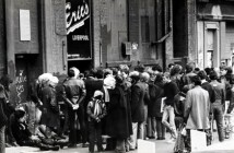 Crowds gather outside Eric's
