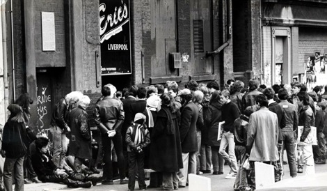 Crowds outside Eric's