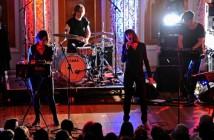 Photo by Gavin TraffordLadytron perform at St Georges Hall Liverpool.