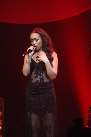 Rebecca Ferguson performing at The Royal Liverpool Philharmonic Hall 09.03.2012