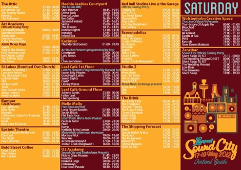 Liverpool Sound City 2012 line up Saturday Getintothis.jpg