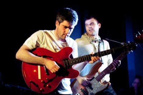 Tea Street Band's Timo and Nic at the GIT AWARD 2012.jpg