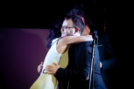 The Kazimier's Laura hugs Peter Guy after receiving the GIT Inspiration Award.jpg
