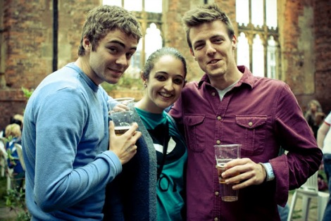 Folks at X&Y festival at the Bombed Out Church.jpg