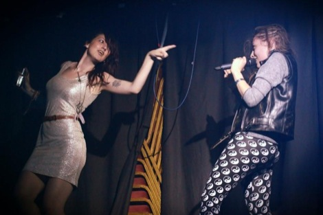 Friends live at the Kazimier with dancing girl.jpg