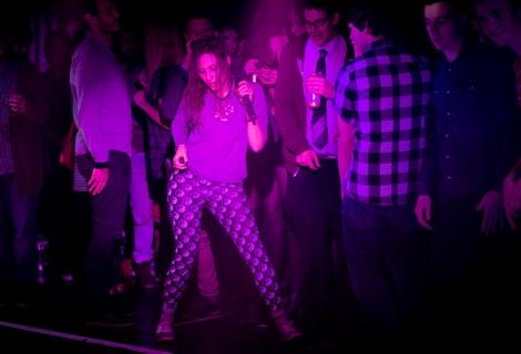 Sam Urbani dancing Friends live at the Kazimier.jpg