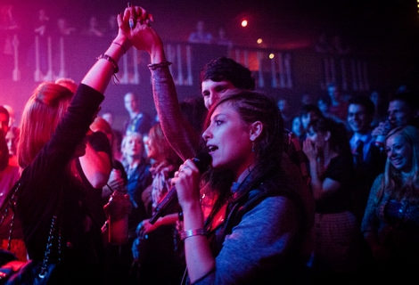 Sam in the crowd Friends live at the Kazimier.jpg