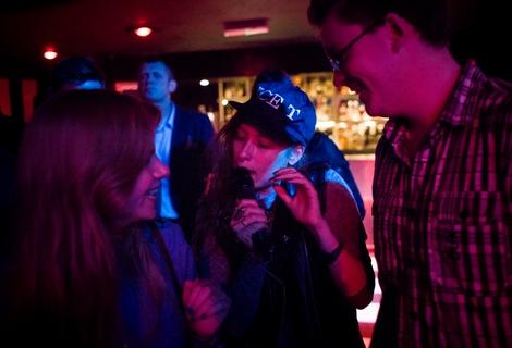 Sam sings at the bar Friends live at the Kazimier.jpg