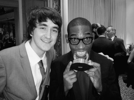 Conor McDonnell with Tinie Tempah at the Q Awards.jpeg