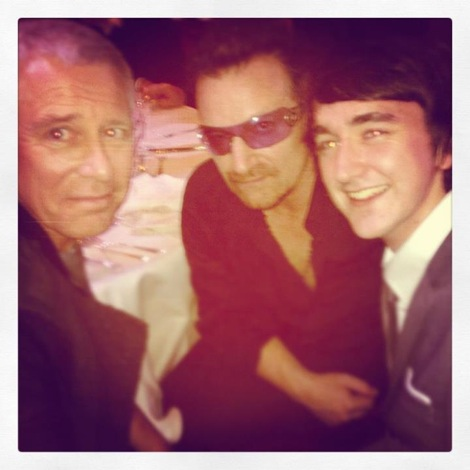 Conor McDonnell with U2's Adam Clayton and Bono at the Q Awards.jpeg