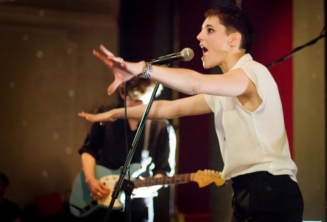 Savages singer live at Leaf  in Liverpool.jpg