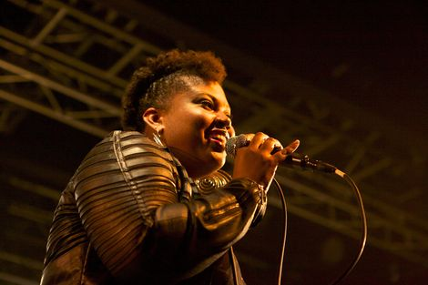 The Maytals' Chantelle Ernandez live at the O2 Academy.jpg