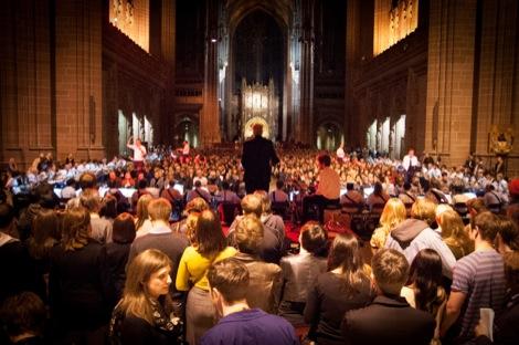 Rhys_Chatham_-_A_Crimson_Grail_-_Liverpool_Biennial_-_Anglican_Cathedral-7