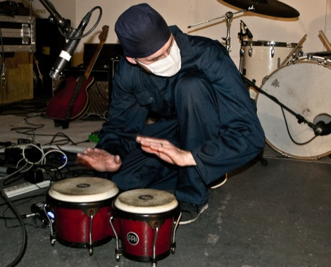 Clinic percussion live at Static Gallery.jpg