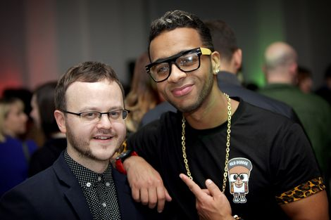 Peter Guy and Esco Williams at the GIT Award launch 2013.jpg
