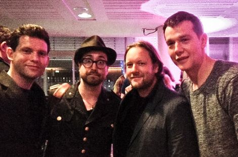 Baltic Fleet with Sean Lennon after their show at Yoko Ono's Mel
