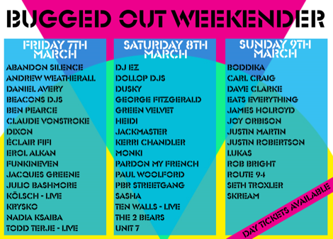Bugged Out Weekender - Day By Day flyer (1).png