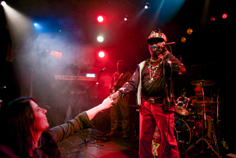 Lee Scratch Perry - live review The Kazimier-touching