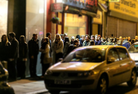ezra queue outside Leaf