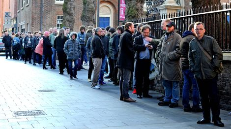 Merseyside black wax enthusiasts queue at Probe Records on Record Store Day 2014