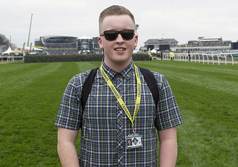 matty H live at aintree on the course