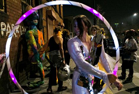 hula hoop alien at threshold