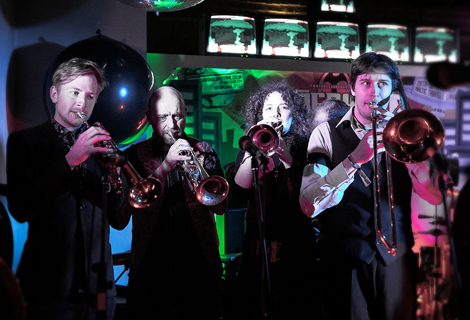 harlequin dynamite marching band at threshold 2014
