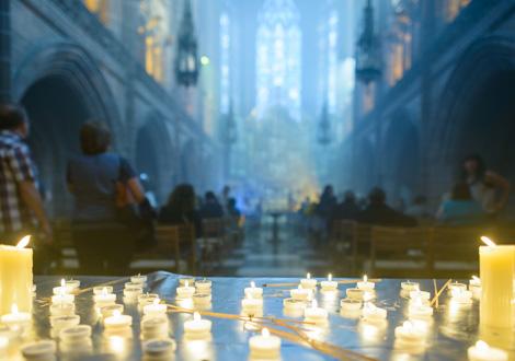 light night lady chapel candles