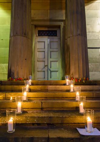 light night lantern steps