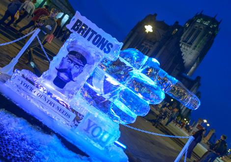 light night ice sculpture