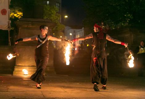 LightNight (16) fire dancers