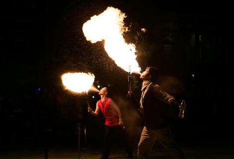 LightNight (18) fire dancers