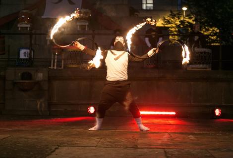 LightNight (30) fire dancers