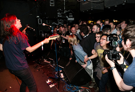 Courtney Barnett rocking Zanizbar at Sound City 2014