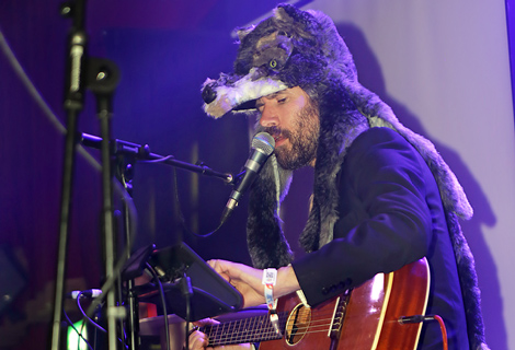 Gruff Rhys performing at Liverpool EVAC - 01/05/2014