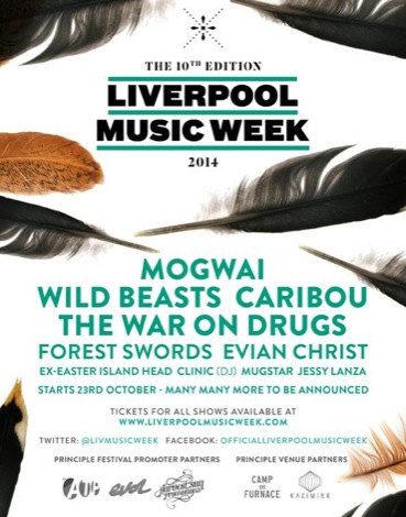 liverpool music week 2014 tickets mogwai caribou wild beasts line up camp and furnace poster.jpg