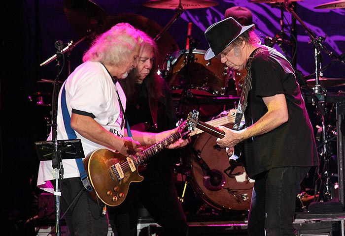 Neil Young and Crazy Horse performing at The LIverpool Echo Arena