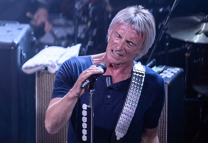 Paul Weller performing live at East Village Arts Club