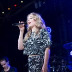 Becky Hill performing live at MTV Brand New
